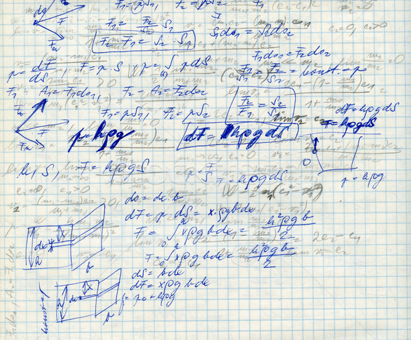 math on the sqare paper f Stock photo © jonnysek