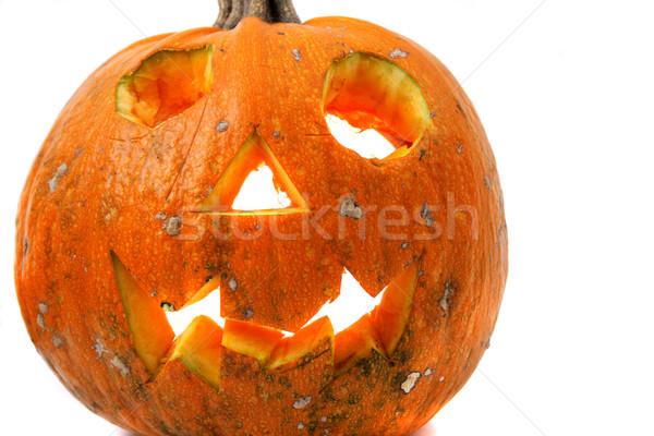 Halloween pumkin on the white background  Stock photo © jonnysek