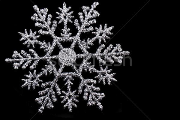 Flocon de neige isolé Nice noir neige glace Photo stock © jonnysek