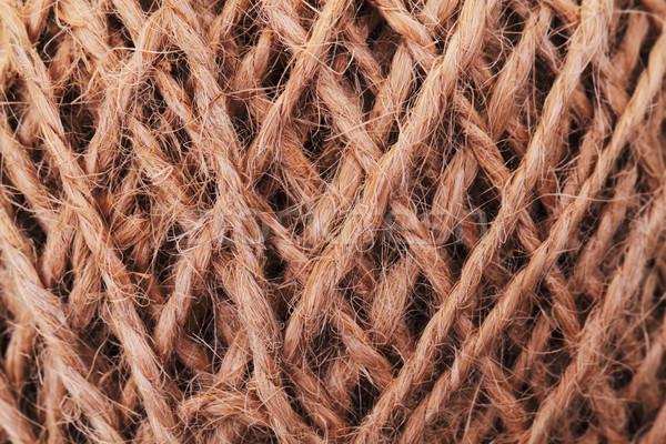 Textuur touw bal katoen draad string Stockfoto © jonnysek