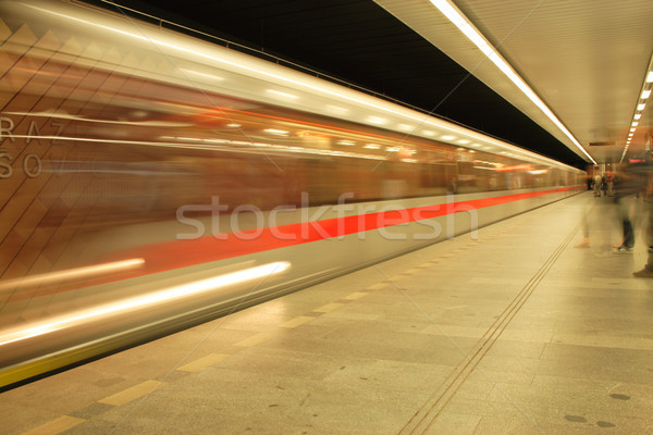Prague subway Stock photo © jonnysek
