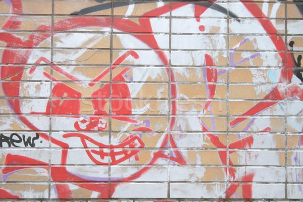 Street art spray konzerv enyém város absztrakt Stock fotó © jonnysek
