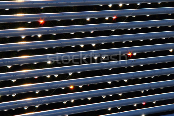 water drops on steel background Stock photo © jonnysek
