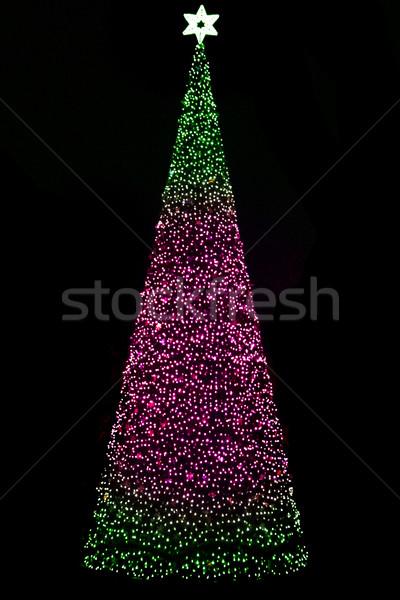 Noel ağacı Çek Cumhuriyeti karanlık gece dizayn sanat Stok fotoğraf © jonnysek