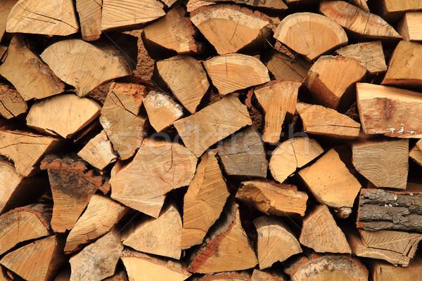 Stok fotoğraf: Güzel · yakacak · odun · doku · kahverengi · doğal · ağaç