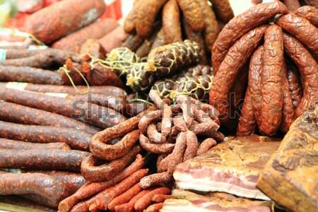 smoked meat  Stock photo © jonnysek