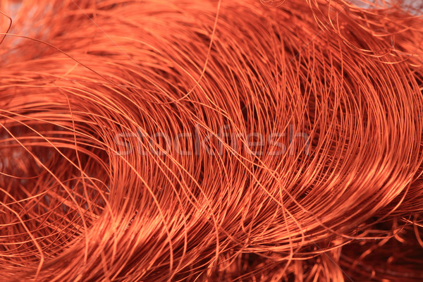Miedź drutu tekstury nice metal budowy Zdjęcia stock © jonnysek