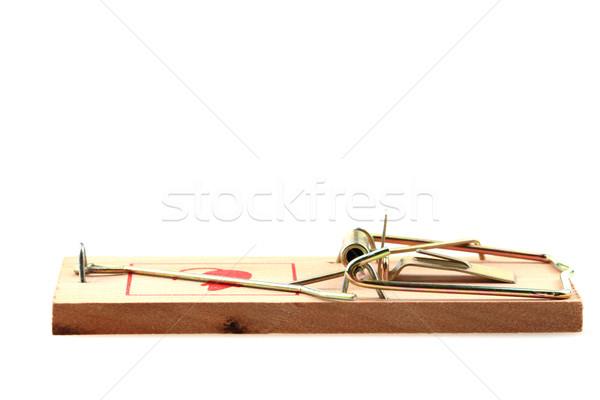 Maus Trap isoliert neue weiß Hintergrund Stock foto © jonnysek