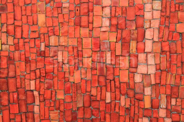 Klein stenen mozaiek textuur mooie kleur Stockfoto © jonnysek