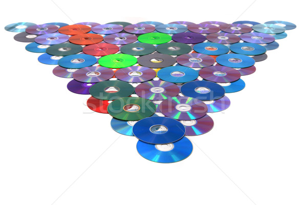 CD and DVD isolated on the white Stock photo © jonnysek
