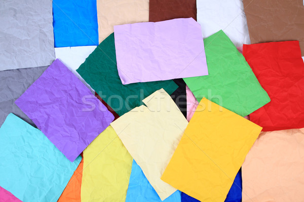 crumpled color papers background Stock photo © jonnysek