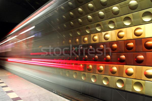 subway background from the Prague Stock photo © jonnysek