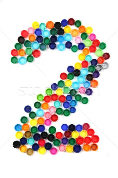 2 - number from the plastic caps Stock photo © jonnysek