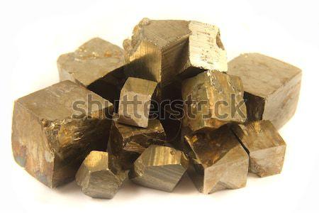 golden cubes Stock photo © jonnysek