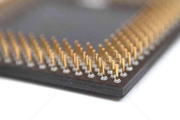 Bewerker oude computer geïsoleerd witte technologie Stockfoto © jonnysek