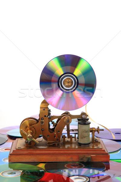 Starych płyta cd działalności tekstury streszczenie przemysłu Zdjęcia stock © jonnysek