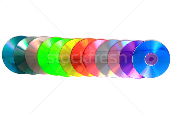 color CD and DVD isolated on the white background Stock photo © jonnysek