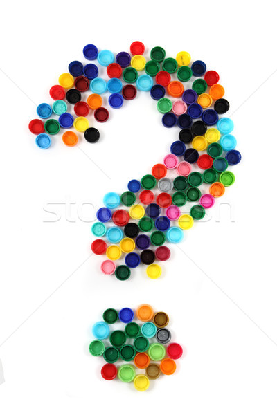 question sign from the plastic caps  Stock photo © jonnysek