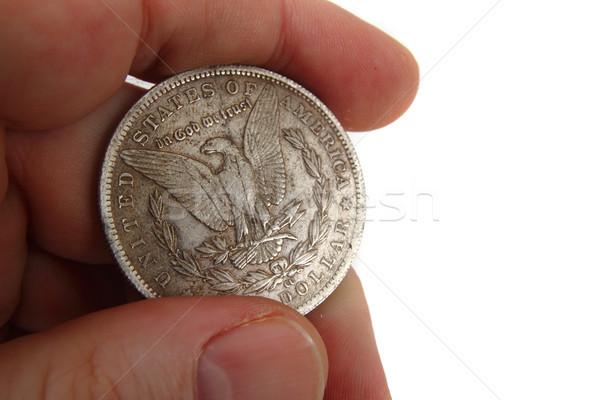 dollar coins in human hand Stock photo © jonnysek