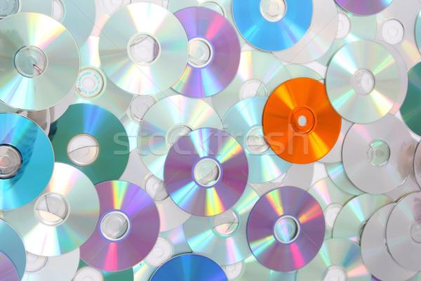 CD and DVD background  Stock photo © jonnysek
