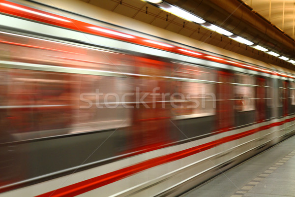 subway in Prague Stock photo © jonnysek
