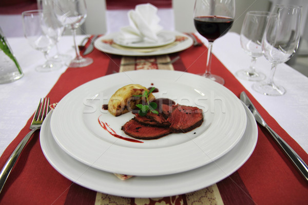 Sedano bistecca alimentare sfondo Foto d'archivio © jonnysek