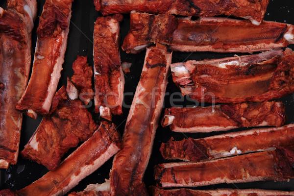 Gerookt varken mooie voedsel zomer Stockfoto © jonnysek