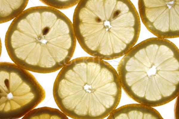 lemon background Stock photo © jonnysek