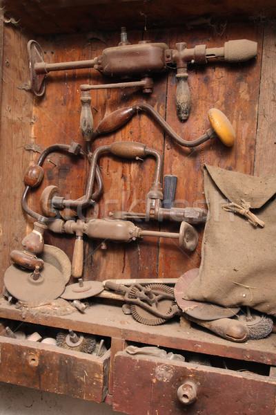 Travail outils père travaux machine Photo stock © jonnysek