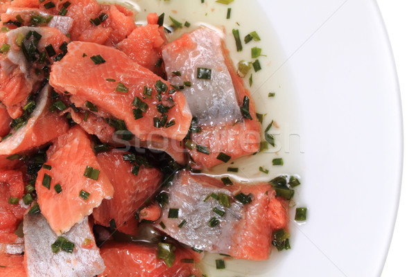 salmon fish pieces Stock photo © jonnysek