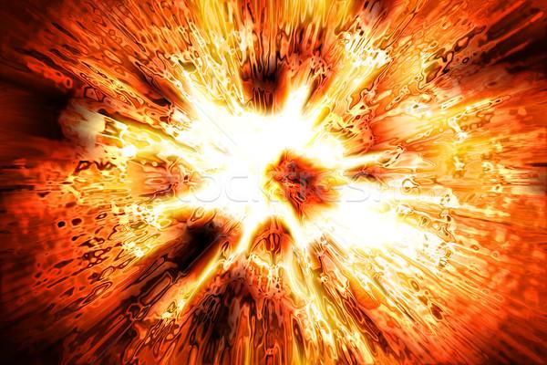 Explosão textura bom gerado sol abstrato Foto stock © jonnysek