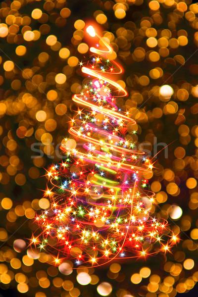 рождественская елка Nice праздник рождество дизайна домой Сток-фото © jonnysek