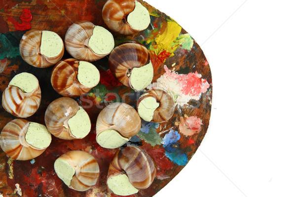 snails as gourmet food  Stock photo © jonnysek