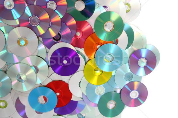 Cd technológia szép számítógép zene kommunikáció Stock fotó © jonnysek