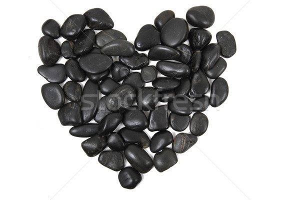 black stones heart isolated Stock photo © jonnysek