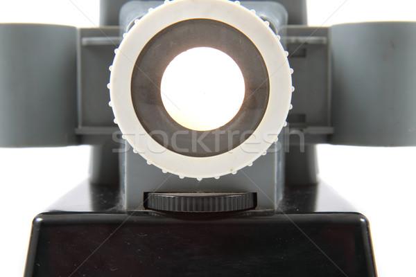 Starych projektor 1950 odizolowany biały film Zdjęcia stock © jonnysek