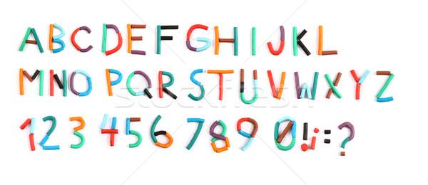 plasticine color alphabet  Stock photo © jonnysek