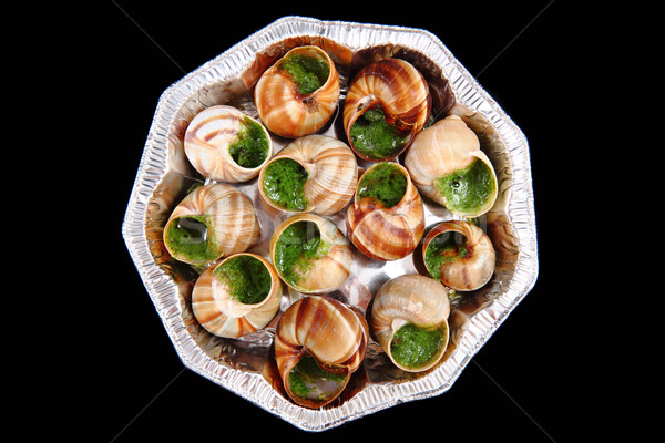 snails with herb butter Stock photo © jonnysek