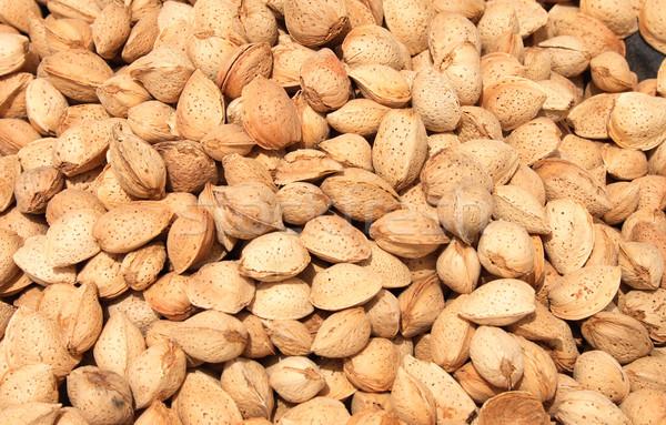 almond background Stock photo © jonnysek