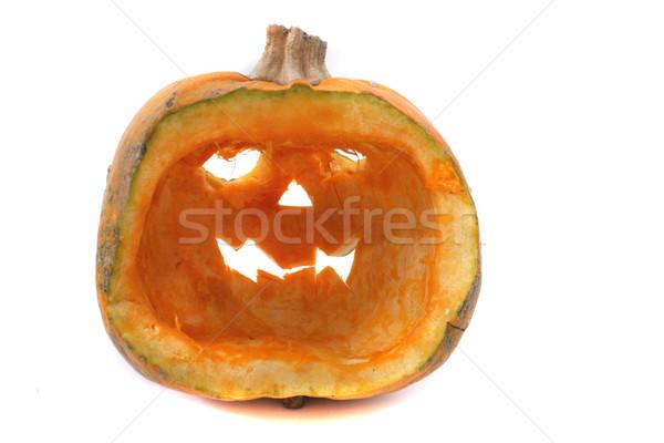 Halloween décoration citrouille isolé noir alimentaire Photo stock © jonnysek