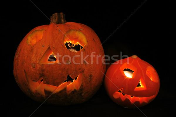Stock photo: halloween pumpkins