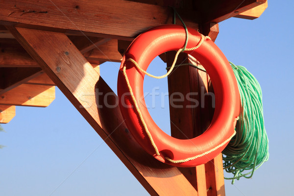 life buoy from the beach  Stock photo © jonnysek