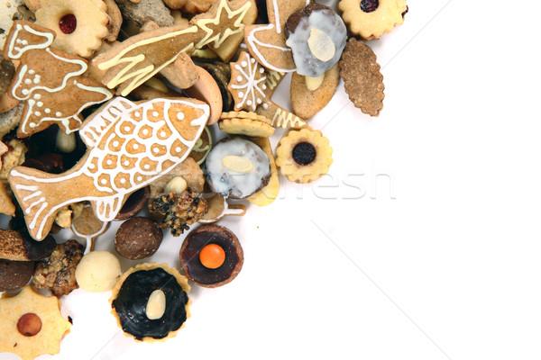 czech christmas cookies isolated Stock photo © jonnysek