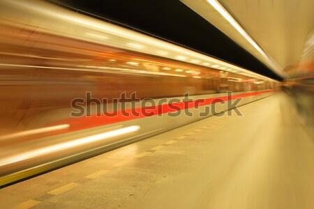 subway from the Prague Stock photo © jonnysek