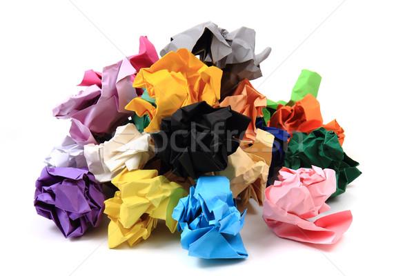 crumpled color papers Stock photo © jonnysek