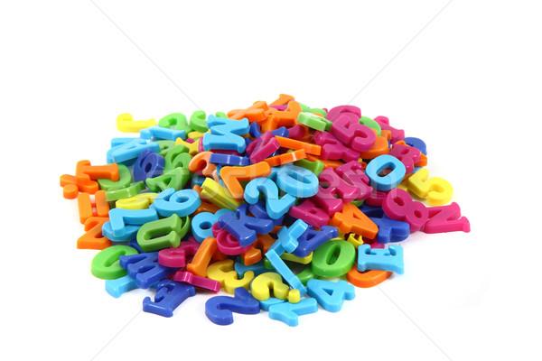 Сток-фото: пластиковых · алфавит · изолированный · белый · образование · письме
