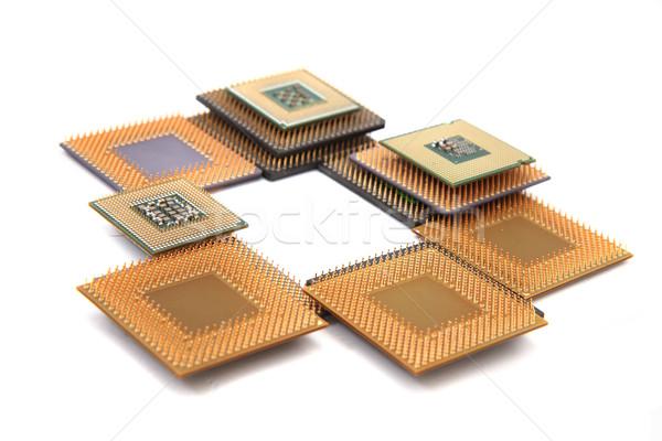 Cpu geïsoleerd witte computer technologie industrie Stockfoto © jonnysek