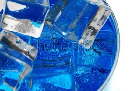 Azul mineral isolado branco textura abstrato Foto stock © jonnysek
