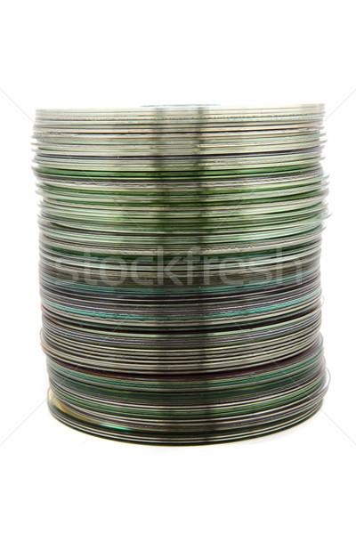spindle of DVD Stock photo © jonnysek