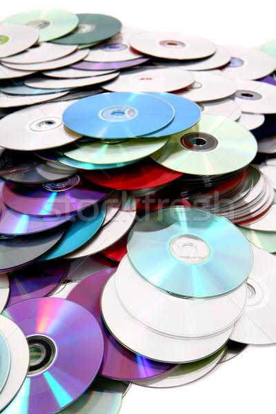 Cd szép technológia zene absztrakt kommunikáció Stock fotó © jonnysek